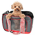 Pet Life Candy Cane Fashion Pet Carrier, Gray