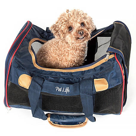 Pet Life Airline-Approved Aero-Zoom Lightweight Wire Framed Collapsible Pet Carrier