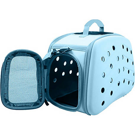 Pet Life Narrow Shelled Perforated Lightweight Collapsible Military Grade Transportable Designer Pet Carrier