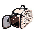 Pet Life Narrow Shelled Perforated Lightweight Collapsible Military Grade Transportable Designer Pet Carrier, Pink