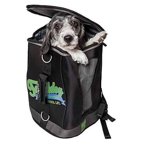 Touchdog Ultimate-Travel Airline-Approved Backpack Carrying Water-Resistant Pet Carrier, Green