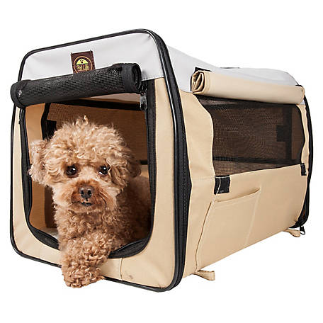 Pet Life Folding Zippered Lightweight Easy Folding Pet Crate