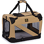 Pet Life Folding Zippered 360 deg. Vista View House Pet Crate