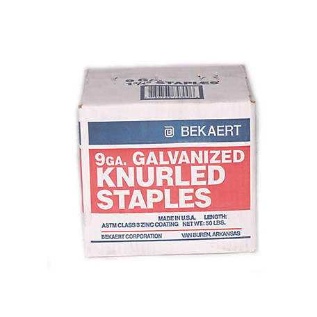 Bekaert Fence Staples Knurled 1.25 in. 50 lb., 118323