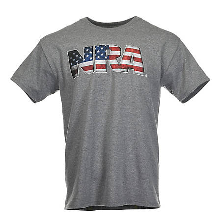 502d3ea9 NRA Men's USA Flag Logo Graphic T-Shirt at Tractor Supply Co.