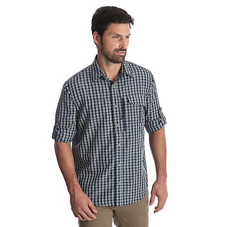 Wrangler Outdoor Men's Plaid Utility Shirt