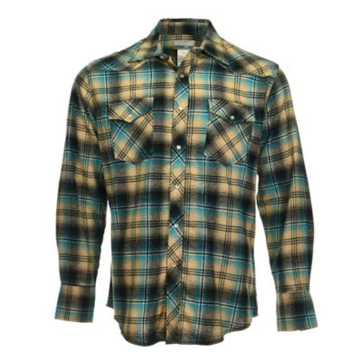 075dcaf7 Wrangler Men's Flannel Long Sleeve Plaid Shirt - 1315558 at Tractor Supply  Co.