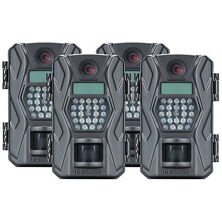Simmons 10 MP Lowglow Trailcam, Charcoal (4 Pack)