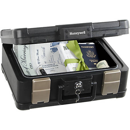 Honeywell Medium 30-Minute UL Fire Rated Waterproof Chest with Carry Handle, 0.24 Cu. ft., 1103