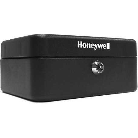 Honeywell Convertible Steel Cash & Key Box with Key Lock, 6111