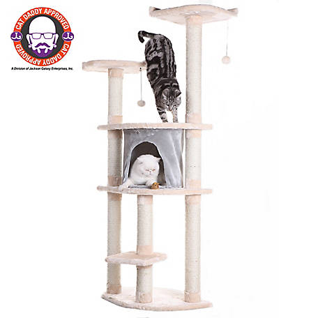 Armarkat Cat Tree, Model A6401, Blanched Almond