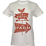 Farm Fed Clothing Women's Home Is Where The Farm Is Graphic T-Shirt