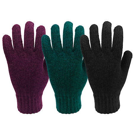 West Chester Women's One Size Fits Most Chenille Knit Gloves