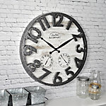 FirsTime Shiplap Outdoor Wall Clock