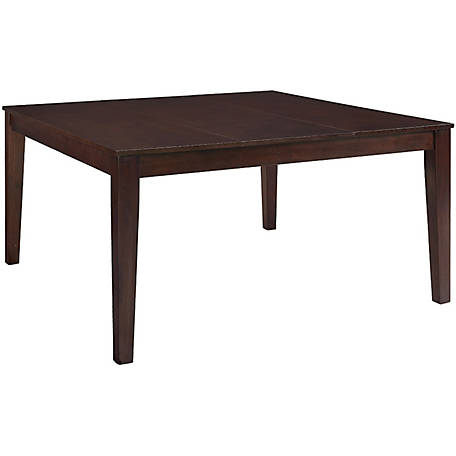 Walker Edison 60 In Cuccino Wood Square Dining Table At Tractor Supply Co