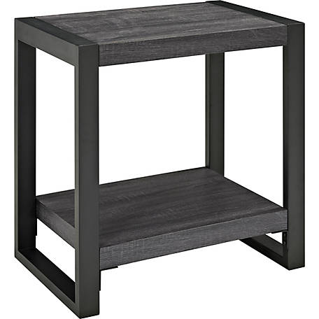 Walker Edison 24 in. Wood Metal Side End Table