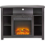 Walker Edison 44 in. Wood Corner Highboy Fireplace TV Stand