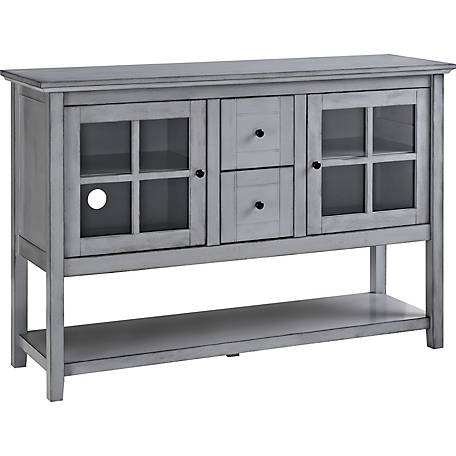 Walker Edison 52 in. Wood Console Table Buffet TV Stand