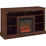 Walker Edison 52 in. Fireplace Tall TV Console with Open Storage