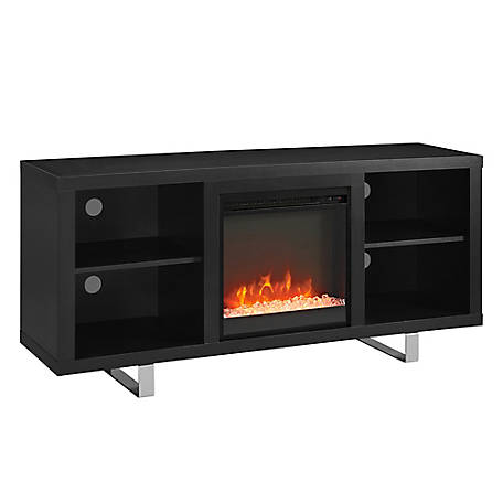 Walker Edison 58 in. Simple Modern Fireplace TV Console