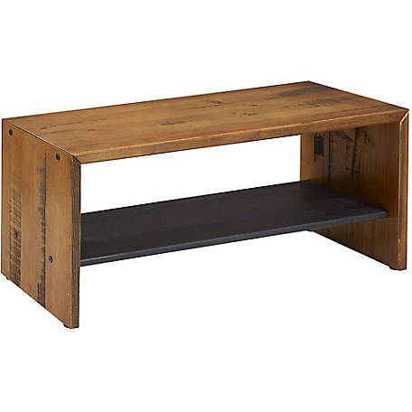 Walker Edison 42 in. Solid Rustic Reclaimed Wood Entry Bench