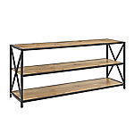 Walker Edison 60 in. X-Frame Metal and Wood Console Table