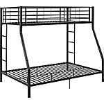 Walker Edison Premium Metal Twin over Full Bunk Bed