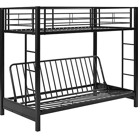 Walker Edison Premium Metal Twin Over Futon Bunk Bed 1316485 At