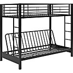 Walker Edison Premium Metal Twin over Futon Bunk Bed
