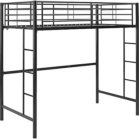 Walker Edison Premium Metal Twin Loft Bed