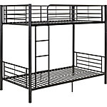Walker Edison Premium Metal Twin over Twin Bunk Bed