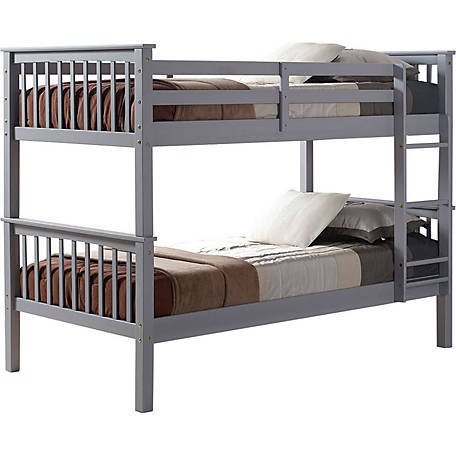 Walker Edison Twin Over Twin Solid Wood Mission Design Bunk Bed At