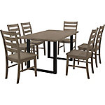 Walker Edison Madison 7-Piece Wood Dining Set