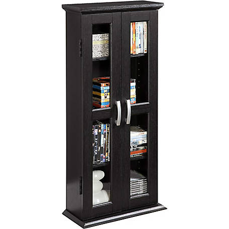 Walker Edison 41 in. Wood Media Storage Tower Cabinet