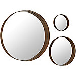 Walker Edison Banded Round Copper Mirrors, Set of 3
