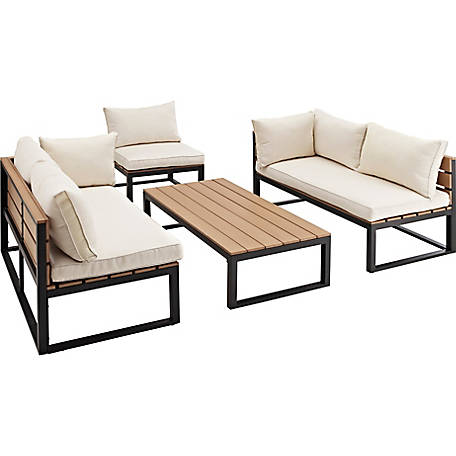 Walker Edison 4-Piece All-Weather Patio Conversation Set
