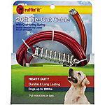 Ruffin' It Heavy-Duty Cable Tie Out with Cushioning Spring, 20 ft.