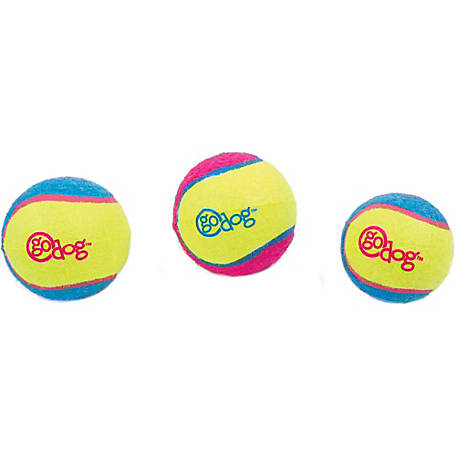 Ruffin' It goDog Retrieval Ultimate Balls, Pack of 3, Small