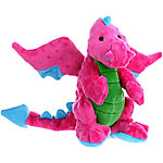 Ruffin' It Dragons with Chew Guard, Large, Pink
