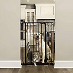 Carlson Black Extra Tall Gate with Pet Door