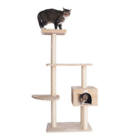 GleePet 57 in. Cat Tree, GP78560321, Beige