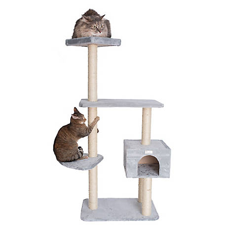 GleePet 57 in. Cat Tree, GP78560322, Silver Gray