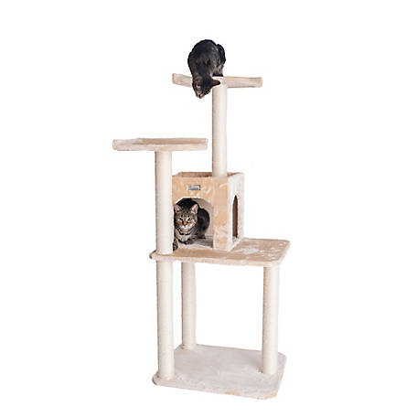 GleePet 57 in. Cat Tree, GP78571021, Beige