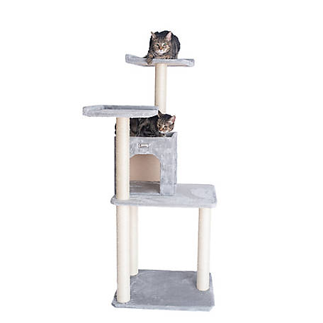 GleePet 57 in. Cat Tree, GP78571022, Silver Gray
