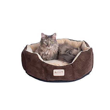 Armarkat C01HKF/MH Cozy Pet Bed, 20 in. Diameter, Mocha Beige