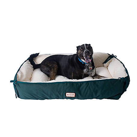 Armarkat Pet Bed, 64 in. x 50 in., Extra Large, Green & Ivory