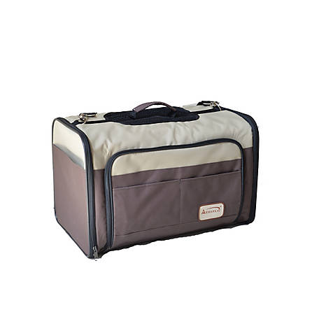 Armarkat Pet Carrier, Brown and Beige