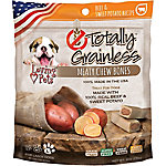Loving Pets Totally Grainless Meaty Chewy Bones for Large Dogs, Beef and Sweet Potato, 6 oz.