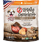 Loving Pets Totally Grainless Meaty Chewy Bones for Medium Dogs, Beef and Sweet Potato, 6 oz.