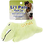 Li'l Pals Plush Dog Toy, Gator, Green